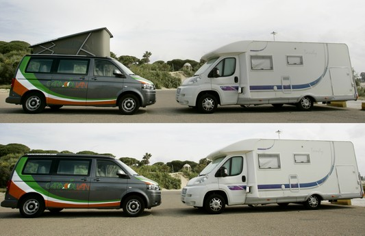 Vw T5 California con techo elevable y Autocaravana