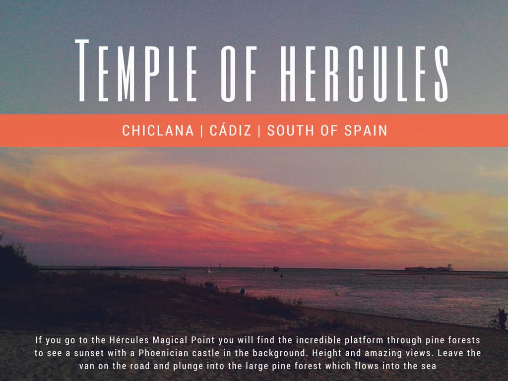 temple hercules in spain beach
