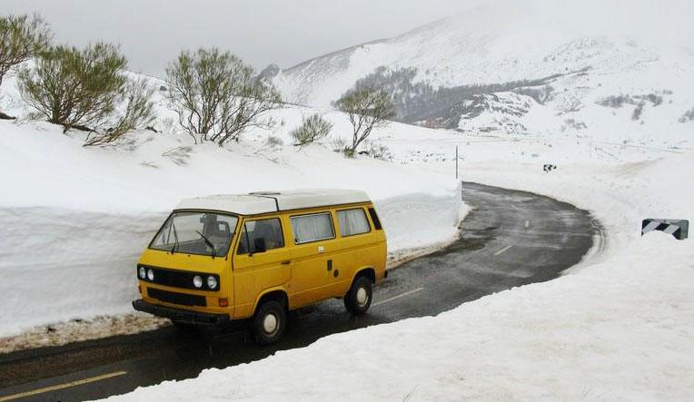 winter campervan rent in spain