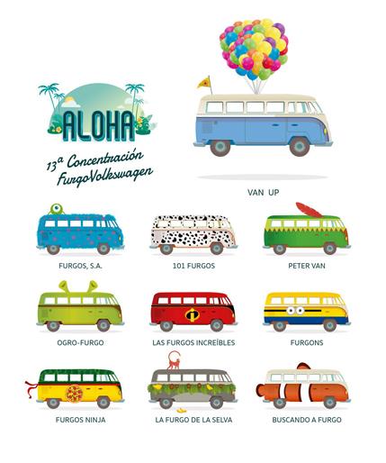 different campervans in spain
