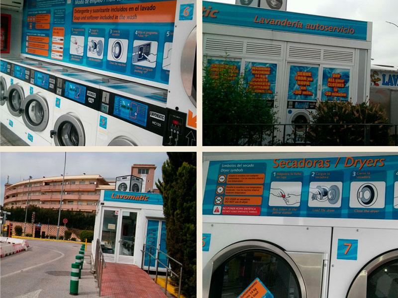 gasolinera con lavadoras