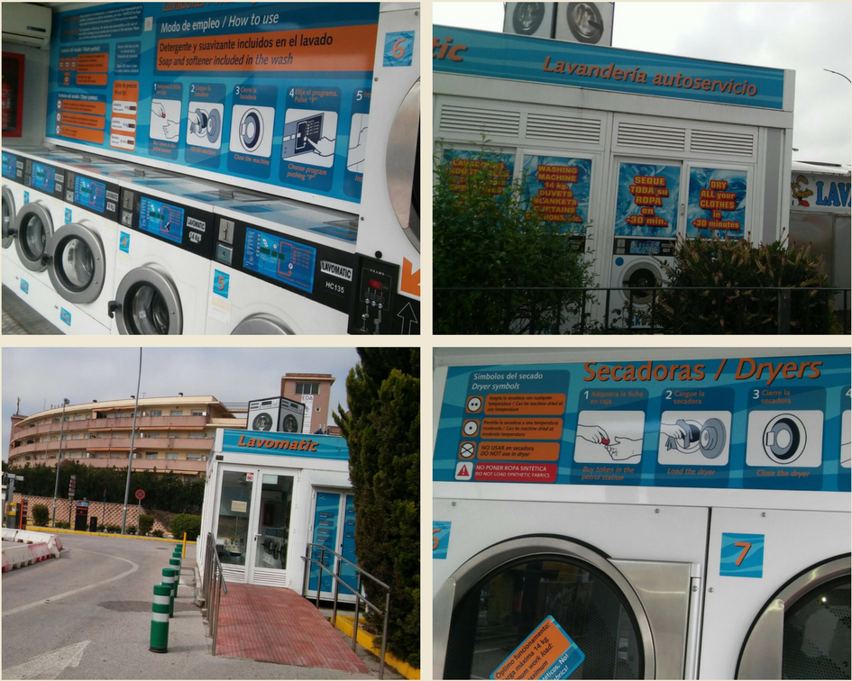 Machines à laver dans les stations-service