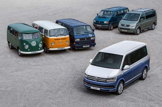 Volkswagen fourgonnettes histoire, de Vw T1 à Vw T6