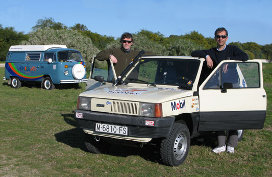 The Panda Raid Arrive at Caracolvan Camper Rental