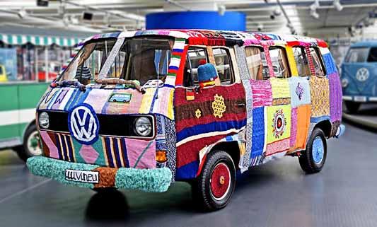 Vw T25 Campervan dressed up for Cadiz Carnival