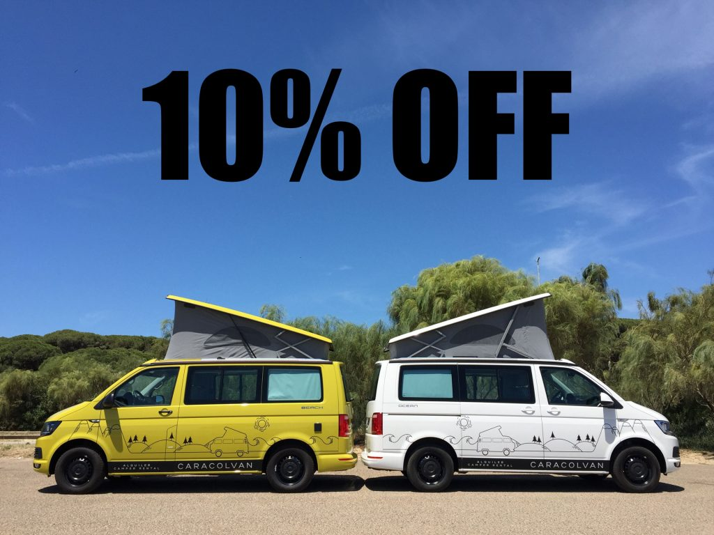 Last minute offer camper-van hire Spain