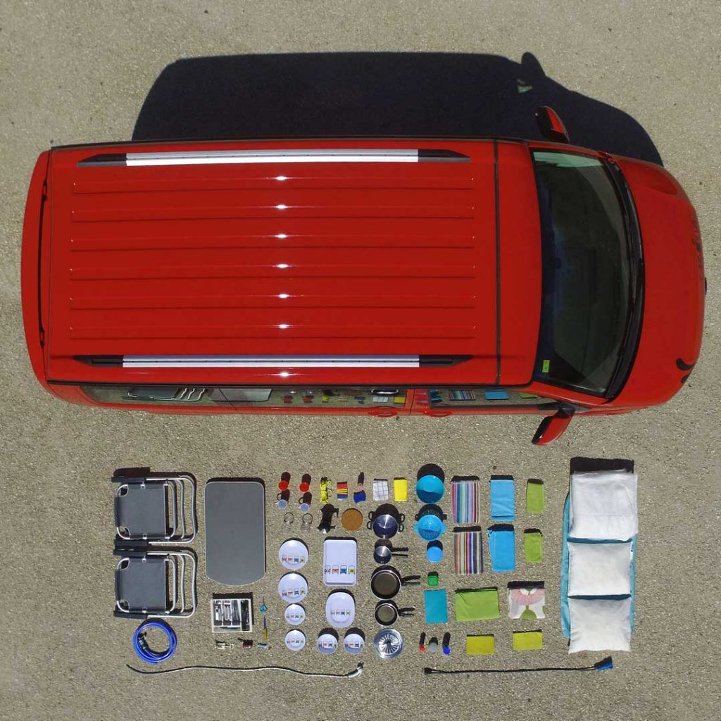 essential equipment Caracolvan camper-van rentals