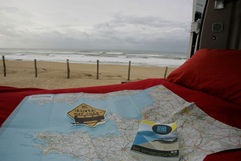 Map and guide for your camper-van trip
